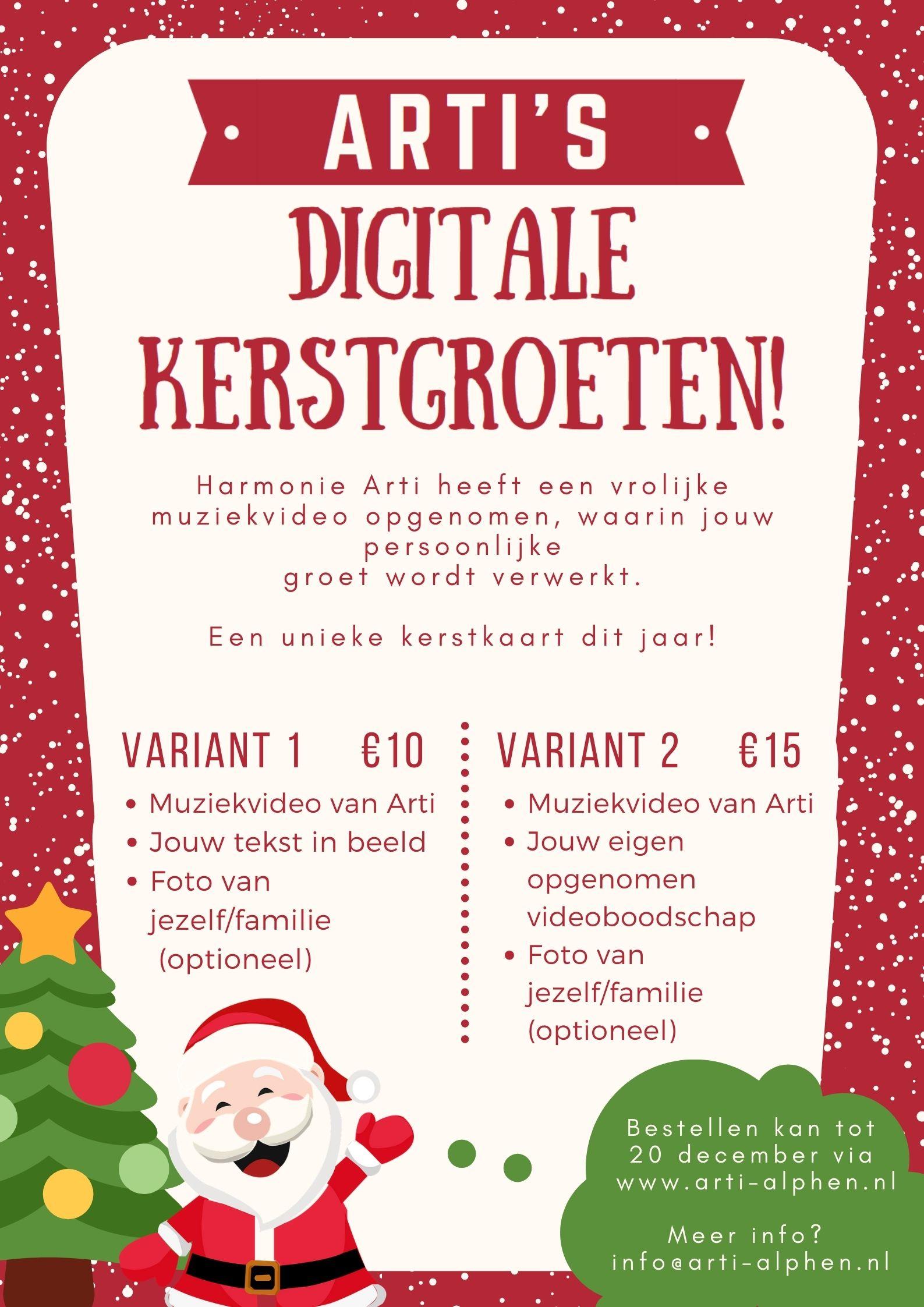 Arti's Digitale Kerstgroet